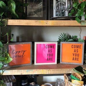 "Handmade pink and orange custom neon signs 9x9"""
